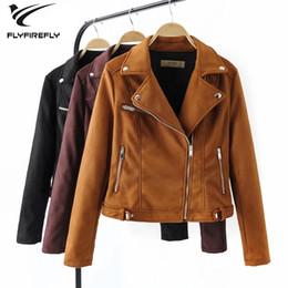 $enCountryForm.capitalKeyWord Australia - 2019 pu leather jacket women autumn winter zipper motorcycle coat punk biker jackets korean streetwear long sleeve suede jacket