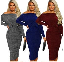 long elegant dinner dresses 2019 - Women's one-shoulder fashion elegant dress party night v collar elegant women tight dress tassel luxury style dinne
