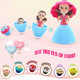 Princess Cake Figures NZ - Cupcake Scented Princess Doll 8.5CM 12 PCS Reversible Cake Debbie Lisa Etude Britney Kaelyn Jennie with 6 Flavors Magic Toys for Girls