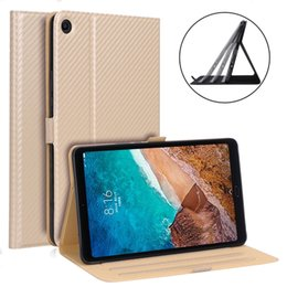 Xiaomi Mipad Cases Australia - 30pcs Carbon Fiber Pattern Case Cover for Xiaomi Mipad4 Plus Mi Pad 4 Plus Mipad 4 Plus 10.1 inch Tablet Adjustable Stand