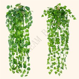 vines leaf UK - 4 Styles Hanging Vine Leaves Artificial Greenery Artificial Plants Leaves Garland Home Garden Wedding Decorations Wall Decor