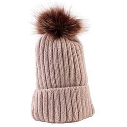 f9f3f6599410 Cute Winter Hats Toddler Kids Boys Girls Knitted Caps Crochet Winter Warm  Hat Cap Baby Boys Girls