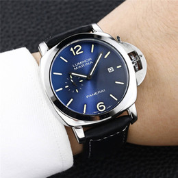 Panerai Men Watches Australia - NEW High quality Famous Top Full Function Watches PANERAI Mens Womens Watch Leather belt Men Sports Watch Women Gift NO Box S4