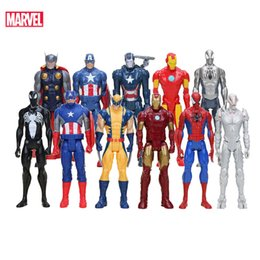 $enCountryForm.capitalKeyWord Australia - Marvel Toys The Avenger Super Hero Thor Captain America Wolverine Movie&TV Action Figure Collection Doll For Children