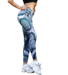 Yoga Pants Europe UK - New cross-border bottom pants four stitches and six lines of snake print for yoga in Europe and the United states