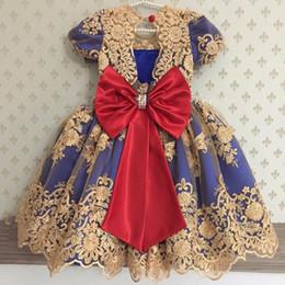 $enCountryForm.capitalKeyWord NZ - Royal Blue Kids Pageant Dresses Real Image Long Girls Frock Designs Girl Communion Dress Lace Custom Made Flower Girl Dress