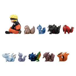 top new toys Canada - 11 pieces   set Naruto whirlwind and 10 kinds of tailbeast Nine Tailed Fox handmade dolls table top decoration children's toys p139