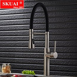 $enCountryForm.capitalKeyWord NZ - Pull Down Kitchen Faucet Brushed Nickel Kitchen Water Faucet Brass Made Spray Shower Head Luxury Spring 4 Colors