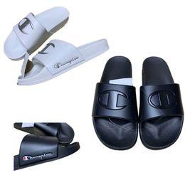 Girls Flat Jelly Shoes NZ - Unisex Champion Luxury Designer Sandals Sports Brand Slippers Mules Slip On Flip Flops Flat Jelly Sandal Beach Rain Bath Water Shoes A52905