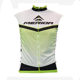 factory direct jerseys UK - 2019 New MERIDA Team Cycling Jersey Summer quick dry Men sleeveless bike shirt road bicycle Vest Factory direct sale cycling Outfits Y070804