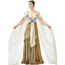 costume wigs women Australia - Women Girls Halloween Costumes Ancient Egypt Egyptian Pharaoh King Empress Cleopatra Queen Costume Cosplay Clothing Wig S M L