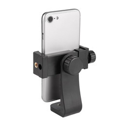 tripod mount clamp Australia - Universal Adjustable Tripod Mount Cell Phone Clip Vertical Bracket Clip Clamp Holder 360 Adapter For Smartphone
