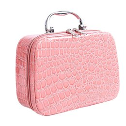 travel medicine 2019 - Fashion Woman Makeup Case Cosmetic Bag Travel Organizer Beauty Box Medicine Stationery Cosmetics Holiday Gifts cheap tra