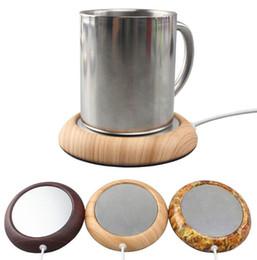 Coffee mug Cup usb online shopping - USB Cup Warmer Metal Coaster Portable Office Home USB Electric Powered Desktop Tea Coffee Beverage Cup Mug Warmer Mat Pad Aluminium Plate