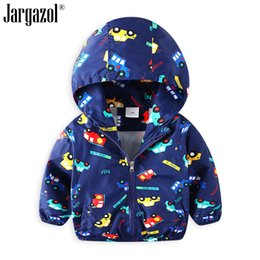 Wholesale 2019 Boys Jacket Long Sleeve Car Printed Boy s Spring Hooded Jackets Outerwear for Boy Clothes Fashion Drop Shipping