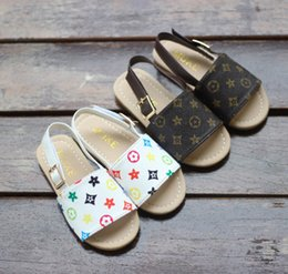 Koreans new sandals online shopping - 21019 new children s shoes summer and autumn baby beach children s sandals and slippers Korean fashion simple children s princess shoes