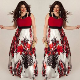$enCountryForm.capitalKeyWord Australia - 2019 Hot Sales Women Spaghetti Strap Dress Floral Printed V-neck Summer&autumn Maxi Dress Plus Size 4xl Party Vintage Dresses T3190608