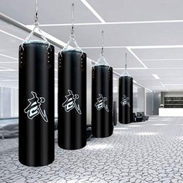 Wholesale 60cm 80cm 100cm 120cmPU leather hollow boxing sandbag, Thai Boxing sand bag, fitness sandbag W4-128
