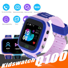 Touch waTch wifi online shopping - Q100 Smart Watches Baby Kid Watch with WIFI inch Touch Screen SOS Call Location Device Tracker Kid Safe PK qQ528 Q50 Q11