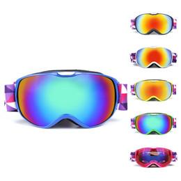 Ski Goggles Anti Fog Glasses Australia - Anti-fogging Skiing Goggles Children UV400 Protection OTG Ski Goggle Climbing Skating Snow Winter Sports Eyewear Glass for Kids