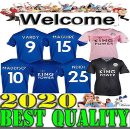 fd6a83787 2019 2020 Leicester soccer jersey home blue away pink shirt 19 20 Man City  VARDY IHEANACHO MADDISON GRAY MORGAN MAGUIRE football shirts