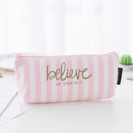 $enCountryForm.capitalKeyWord NZ - Pencil Pen Storage Box Students Sundries Storage Bag Creative Cute Pink Stationery Bag Office Organizer HK0257