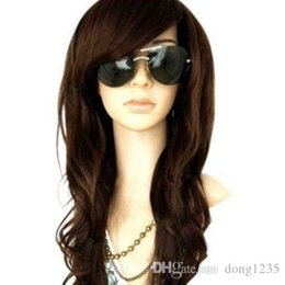 Long Wavy Hair Pictures Australia - DarkBrown Long Wig Glamour Fashion Full Curly Wavy Woman Cosplay Synthetic Hair >>>>Free shipping New High Quality Fashion Picture wig