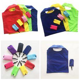 $enCountryForm.capitalKeyWord Australia - 190T Foldable Shopping Bags with hook Reusable Eco Storage Grocery bags outdoor portable Shopping Tote Handbag 58*38cm FFA2613