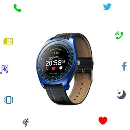 Wristwatch Sim Card Australia - Smart Watch Support Sim Card Camera Bluetooth Smartwatch Sport Fitness Heart Rate Step Tracker Monitor Wristwatch for Android