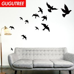 bird design wallpaper NZ - Decorate Home bird cartoon art wall sticker decoration Decals mural painting Removable Decor Wallpaper G-1979