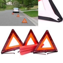 reflective road signs NZ - 3Pcs Early Warning Road Safety Triangular Kit Reflective Sign Emergency Signals XR657