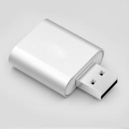 Mini 7.1 Scheda audio USB esterna USB a 3.5mm Adattatore per cuffie Adattatore AUX AUDIO SCHEDA AUDIO per MIC Speaker Laptop Computer Scheda audio in Offerta