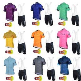 Bikes sportswear online shopping - 2019 NEW Strava team Cycling jersey Set Short Sleeves bib shorts sets Racing Bike MTB Cycle Clothes Wear Ropa Ciclismo Sportswear A20