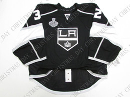 Quick Cup Australia - Cheap custom QUICK LOS ANGELES KINGS 2014 STANLEY CUP JERSEY GOALIE CUT stitch add any number any name Mens Hockey Jersey