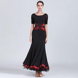 $enCountryForm.capitalKeyWord UK - 2019 Black Ballroom Dress Woman Ballroom Dance Clothes Spanish Flamenco Dress Viennese Waltz Fringe Tango Dance Wear