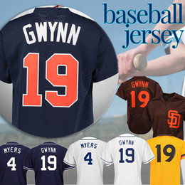 7bbc0cd02 Padres jerseys 19 Tony Gwynn 4 Wil Meyers San Diego COOL Base and Retro  Baseball Jerseys