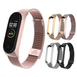 xiaomi miband straps NZ - 2 In1 Silicone Wristband Strap for Amazfit Bip Band WatMilanese Loop Bands Replace Strap For Xiaomi Miband 4 Mi Band3 bracelet Stainless Ste