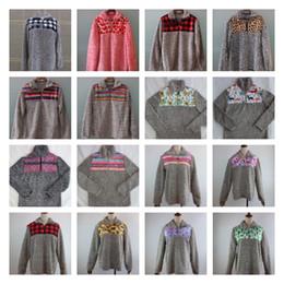21 conception Sherpa hoodies Hiver Femmes Sherpa Doux Pull Pull Outwear Manteau Pulls Chaud Tops Patchwork Chandails LJJK1836 en Solde