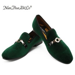$enCountryForm.capitalKeyWord Australia - New style men velvet loafers party Slip-on wedding shoes European and American style gold buckle men's casual shoes