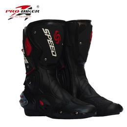 botas calçado de segurança da motocicleta corridas off-road novas dos homens / equitação calçado botas esportivas ao ar livre calçado de bicicleta à prova de vento 3 cores em Promoção