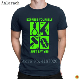 cotton express UK - Just Say Yes Express T Shirt Top Tee Round Neck Customized Funny T Shirt For Men Letters Top Quality Fun Summer Style