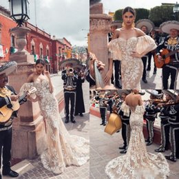 Strapless Full Skirted Wedding Dress Australia - Champagne 2019 Wedding Dresses Sexy Strapless Backless Mermaid Bridal Gowns Full Lace 3D-Floral Appliques Wedding Dress Vestido De Novia