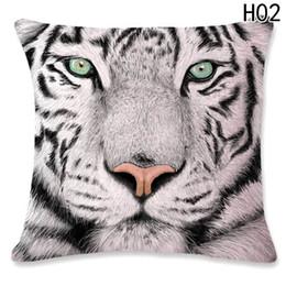 Discount 3d case tiger - 3D Tiger Lion Square Pillowcase Bed Decoration Festival Pillow Case Cushion Cover