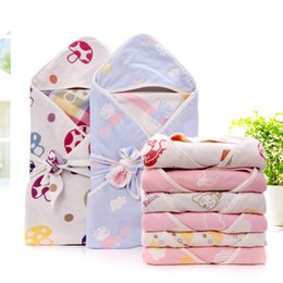 $enCountryForm.capitalKeyWord Australia - High Quality 100% Cotton baby long sleeve jumpsuit bathrobe quilt baby bath towel and cape baby bath robe with hood