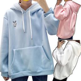 Cartoon hoodies ears online shopping - Girl Kawaii Sweet Ears Hooded Sweatshirt Autumn Women Harajuku Cartoon Embroidery Pullovers Tracksuits Hoodies Plus Size