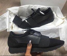 Discount races dresses - Chaussures Fashion Luxury Designer Shoes Race Paris Trainers White Black Dress De Luxe Sneakers Men Women Casual Shoe