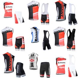Uv Protection Suits Australia - GIANT team Cycling Sleeveless jersey Vest (bib)shorts sets 2018 cycling clothing men's suit bike clothing breathable UV protection c210