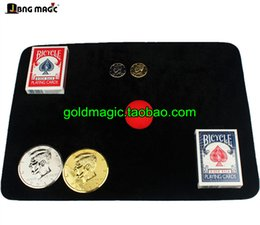 Wholesale black magic online – design Card pad Large cm Medium size cm black Magic props Poker mat Coin flannelette cushion