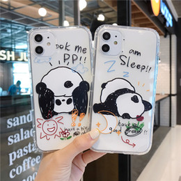 galaxy note cartoon phone cases NZ - Cartoon Panda Phone Case For Apple iphone 11 Pro X XS Max XR Soft TPU Back Cover For iphone 7 8plus 7plus Cute Lovely Clear Case