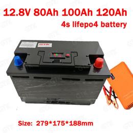 $enCountryForm.capitalKeyWord NZ - GTK lithium 12V 12.8v 120AH 100Ah 80Ah lifepo4 battery deep cycle for 1200W boat inverter subwoofer golf cart radio +10A Charger